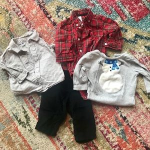 Boys 3-6 month holiday bundle